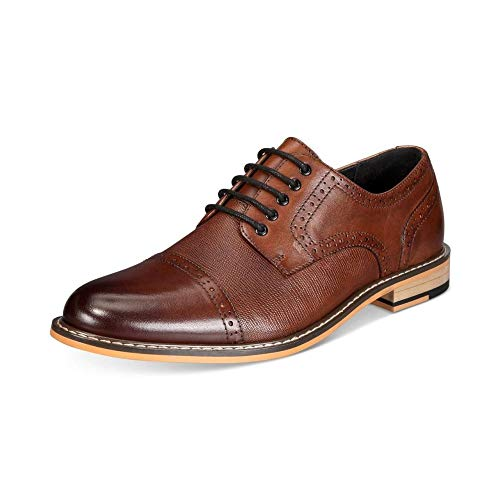 bar III Mens Parker Leather Lace Up Dress Oxfords, Tan, Size 9.5 from bar III