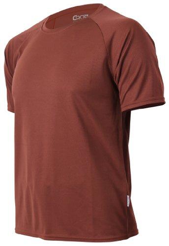 CONA BASIC - Unisex - Kurzarm Funktionsshirt in 24 Farbvarianten erhältlich XXL,Choco