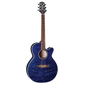 takamine g series eg440cstby nex acoustic electric guitar transparent blue musical. Black Bedroom Furniture Sets. Home Design Ideas