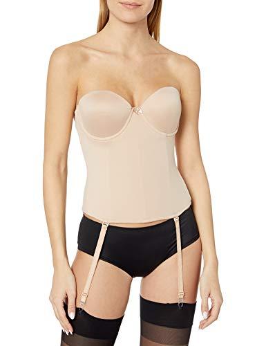 Va Bien Women's Ultra-Lift Low Back Bustier, Nude, 38C