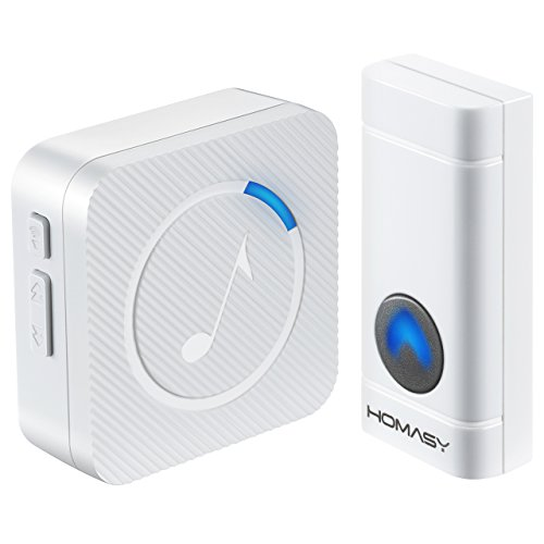Homasy Wireless Doorbell Kit, Operating at 600 Feet with 52 Chimes, 4 (Apartment Door Knockers)