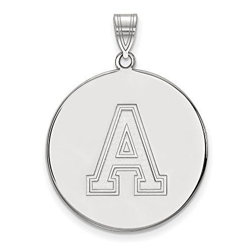- Jewelry Stores Network USMA West Point Army Black Knights School Letter Disc Pendant in Sterling Silver XL - (26 mm x 25 mm)