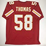 Unsigned Derrick Thomas Kansas City Red Custom Stitched Football Jersey  Size. b200a58a3