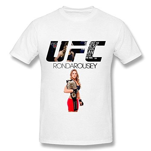 CaiTian Men's UFC Champion Ronda Rousey T-Shirt - Holidays T Shirts White US Size XS