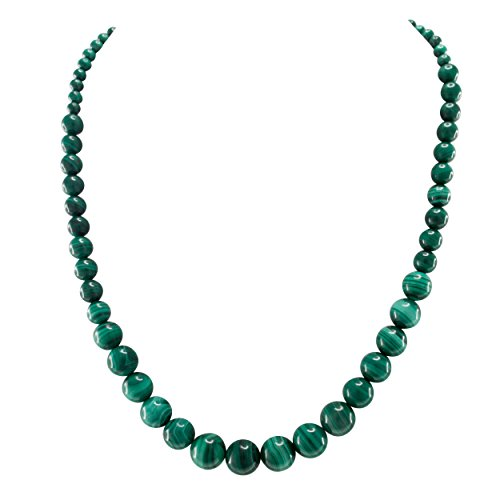 Pearlz Ocean Malachite Journey Green Beads Handmade Strand Necklace for Women
