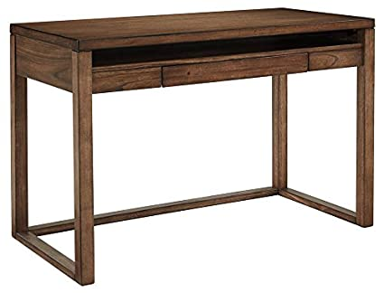 plan rustic office furniture. Ashley Furniture Signature Design - Baybrin Small Home Office Desk Open Shelf Drop- Plan Rustic S