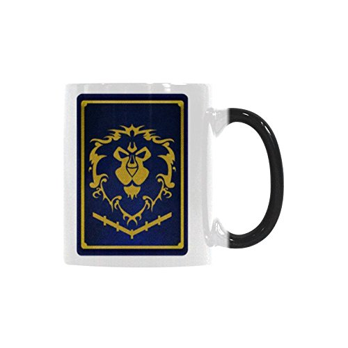 Coffee Mug World Of Warcraft Horde Morph Tea Cup Changing Color Heat Reveal 11 Ounces
