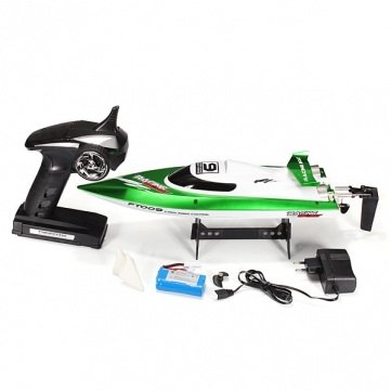 FT009 2.4G 4CH Remote Control High Speed RC Racing Boat with Water Cooling System by WOPUTUO