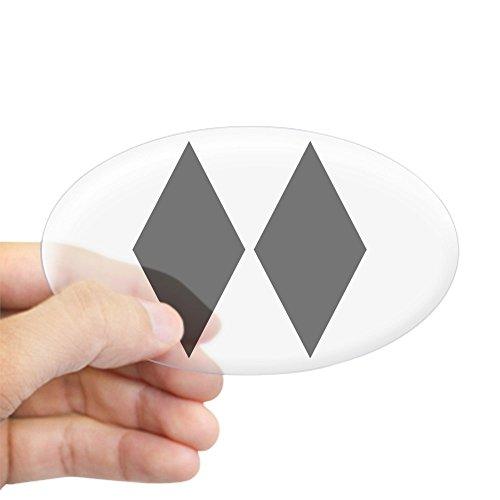 CafePress - Double Diamond Ski Oval Sticker - Oval Bumper Sticker, Euro Oval Car (The Mountain Telemark Skis)