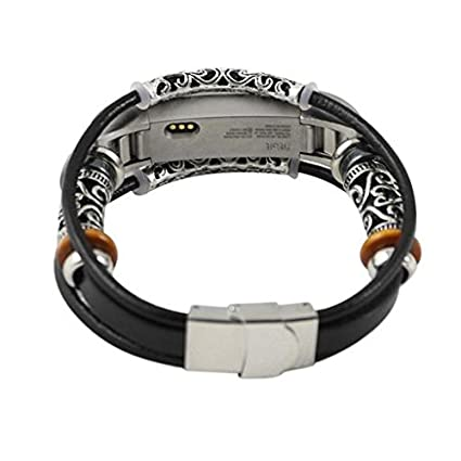 Junshion watchband Fashion Replacement Leather Bracelet Vintage Wristband Band Strap For Fitbit Alta/Fitbit Alta