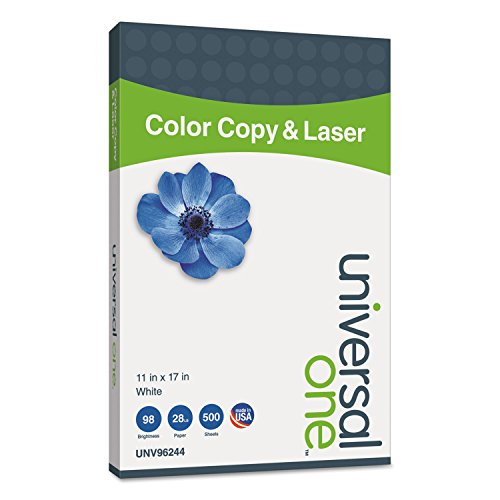 Universal 96244 Copier/Laser Paper, 98 Brightness, 28lb, 11 x 17, White, 500 Sheets/Ream ()