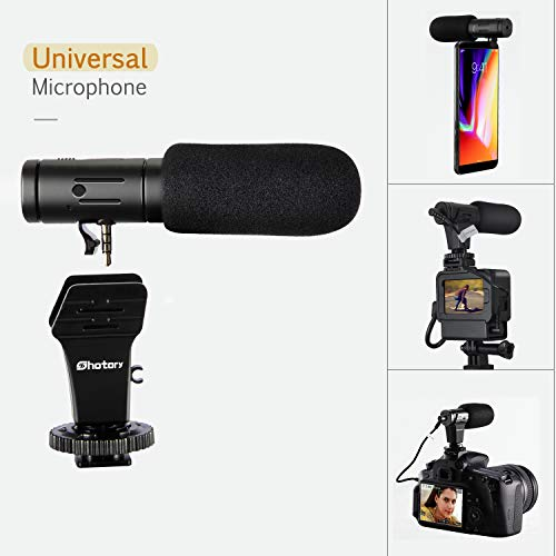 Phone Microphone and Camera Microphone,Shotory Mini Shotgun Video Microphone for Canon/Nikon/Sony Camera and Smartphone Video Recording (with 3.5mm Jack)