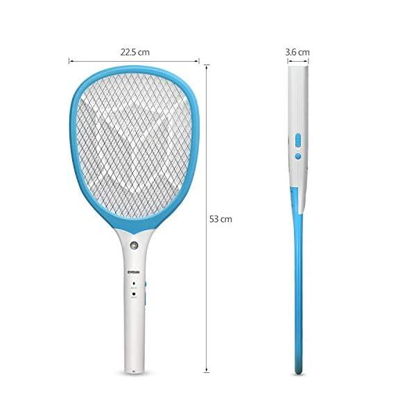 CYOUH Racchetta Zanzare Elettrica, Racchetta Elettrica Insetti con USB Ricaricabile Insetti Volare Swatter Zapper con… 6 spesavip