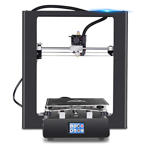 "ZD-ONE 3D Printer, 99% Assembled Sheet Metal Wireless Pro 3D Printer with Offline Print Fast Heat Aluminum Heatbed Nozzle 2.5"" Touch Screen Short Distance Wire Feeding for Soft Filament, 220x250x250mm"