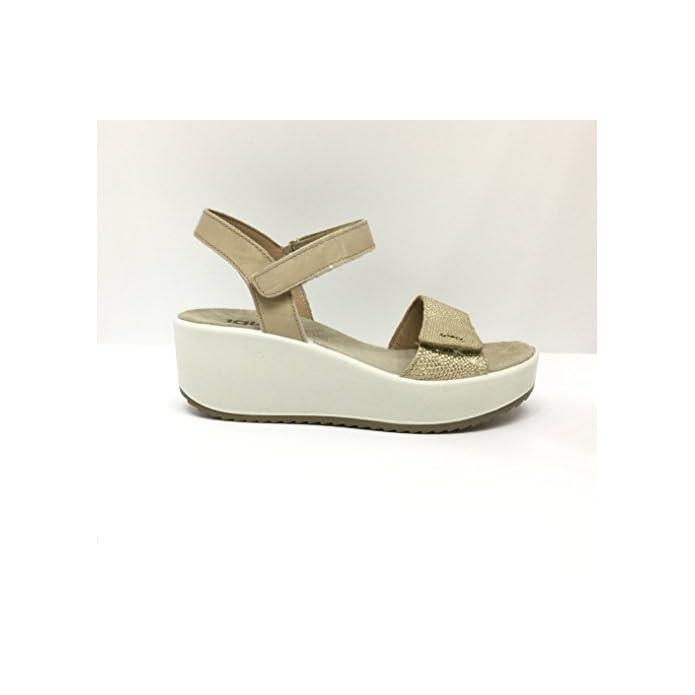 Igico Sandalo Donna Platino beige