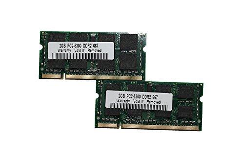 MadFortune 4GB DDR2 PC2-5300 667MHz Memory 200 Pin (2x2GB) SODIMM