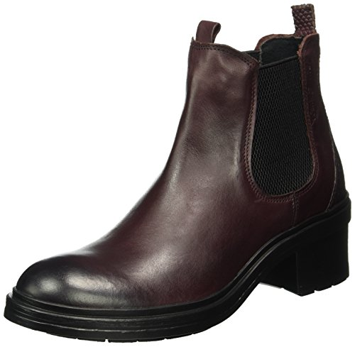 Red Boots 71 active camel 02 Chelsea Bordo Women's Heel Rocket 4aTgOfT