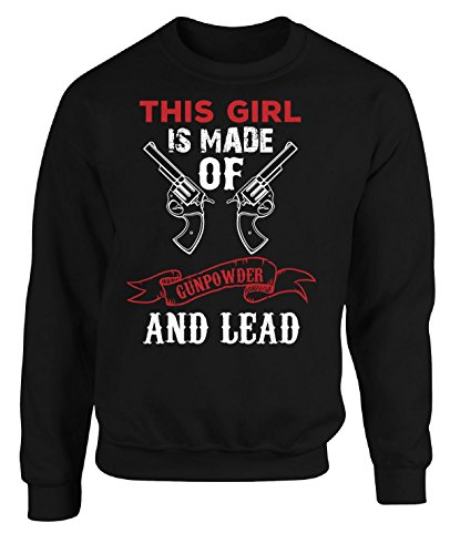 Akg Powder (This Girl Is Made Of Gunpowder - Adult Sweatshirt 5xl Black)