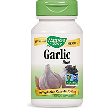 Nature's Way Garlic Bulb, 580mg, 100 Capsule