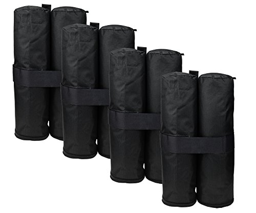 (NKTM Set of 4 Weight Bags for Pop up Canopy Outdoor Shelter,Heavy duty Instant Leg Canopy Weights Sand Bags)