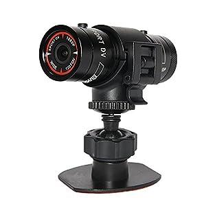 KINGEAR PL007 Mini Sports Camera 1080P Full HD Action Waterproof Sport Helmet Bike Helmet Video Camera DVR AVI Video Camcorder Support 32GB TF Card IDeal for Climbing Skiing Riding etc