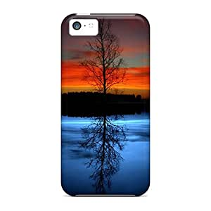 Ourcase88 Design High Quality Reflected Tree Covers Cases With Excellent Style For Iphone 5c