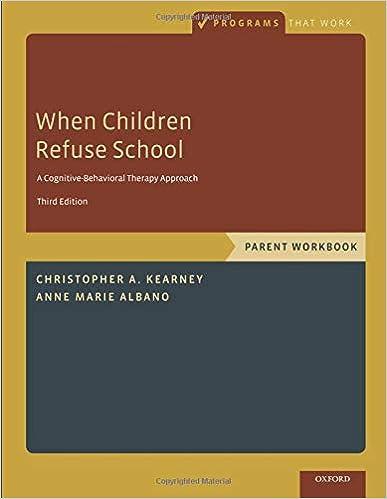 when children refuse school parent workbook