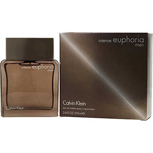 ĆK Euphoria Men Intense Eau De Toilette Spray 3.4 OZ. Oz/ 100 ml (Euphoria Perfume For Men)