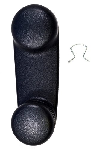 PT Auto Warehouse CH-1833A - Inside Window Crank Handle, Black - Left = Right - Black Window Crank Handle
