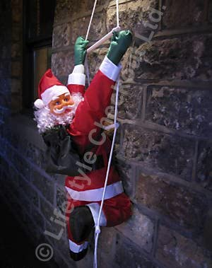 Escalera de cuerda de Papá Noel SOL60, 60 cm, para decoración de jardín de Navidad al aire libre: Amazon.es: Iluminación
