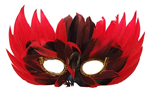 Venetian Feather Mask Mardi Gras Sexy Prom Costume Party (Sexy Mardi Gras Jester Costumes)