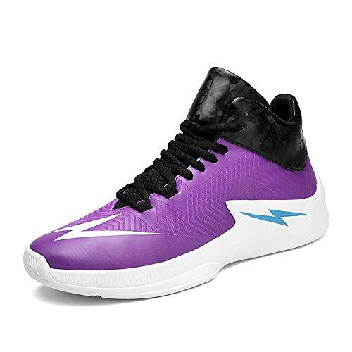 Chaussures Pourpres drapantes De Basket Nouveaux Printemps Hommes ball Pour Montantes 2018 baskets automne Anti Baskets wgq1xS5S