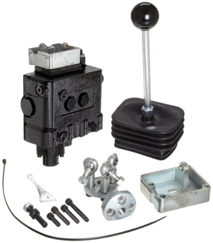 Prince LVR1BG5AB7 Loader Valve, Monoblock, Cast Iron, 2 Spool, 4 Ways, 3 Positions, Double Acting Cylinder Spool, Spring Center with Float Detent, Joystick Handle, 3000 psi, 14 gpm, In/Out: #10 SAE, Work #8 SAE by Prince Manufacturing
