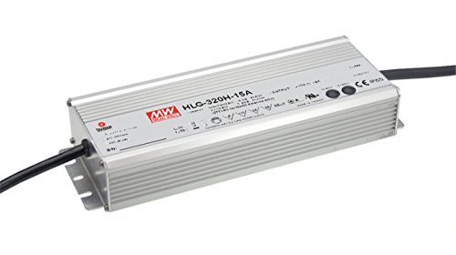MW Mean Well HLG-320H-C1400B 229V 1400mA 320.6W Single Output Switching LED Power Supply with PFC ()
