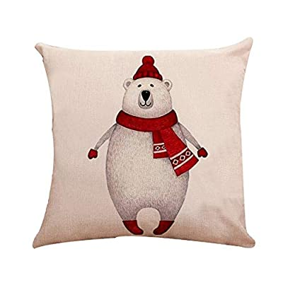 PgojuniMerry Christmas Super Soft Square Throw Pillow Pillow Cover Festival Decoration Throw Pillow Cover Cushion Cover 1pc 45 x 45cm