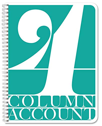 BookFactory 4 Column Account Book/Ledger Book/Accounting Ledger/Notebook (4 Columnar Book Format) - 100 Pages, 8.5