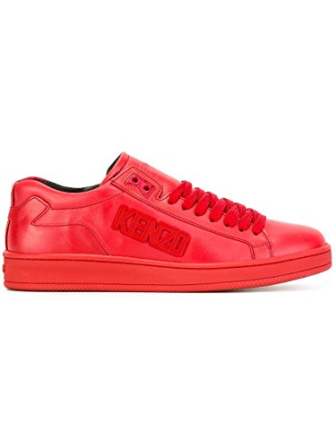 kenzo-mens-m60847red-red-leather-sneakers