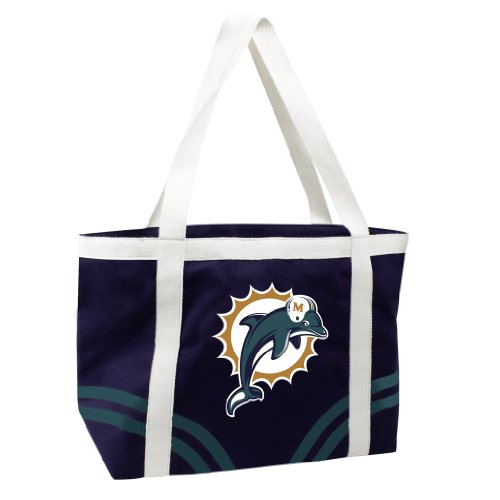 NFL Miami Dolphins Canvas Tailgate - Tailgate Canvas Nfl Tote
