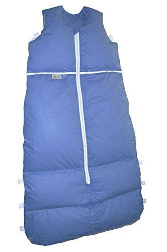 ARO Artländer 87532 Daunenschlafsack, längenverstellbar, Mittelreißverschluss, Größe 110 - 90 cm, dunkelblau