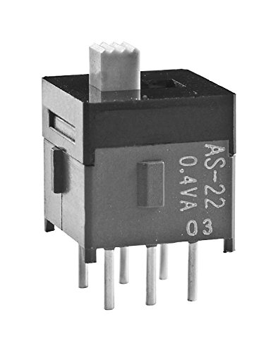 NKK SWITCHES AS22AP AS Series Sub Mini DPDT On-None-On Vertical Through Hole Slide Switch - 5 item(s)