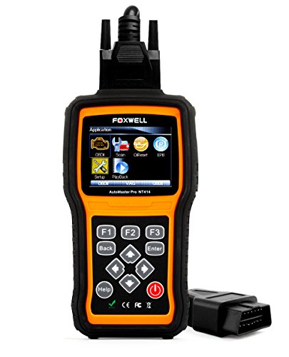 FOXWELL NT414 Automotive OBD II Scanner Car OBD2 Diagnostic Code Reader Engine/ABS/Airbag/Transmission Scan Tool Auto Obdii Tester with EPB and Oil Light Reset Functions
