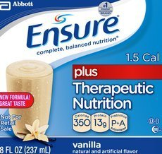 Ensure Plus Homemade Vanilla 8 oz Cans 24/Case by Ross Nutrition by Ross Nutrition