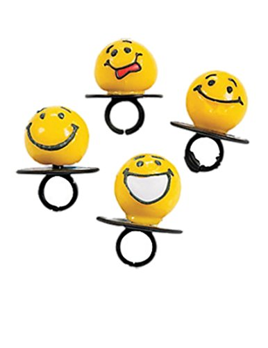 Emoji Smiley Face Ring Suckers