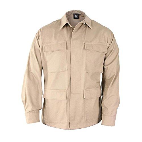 Propper Uniform BDU Coat Long Length 65/35 Polyester/Cotton Twill Khaki (Khaki Bdu Jacket)