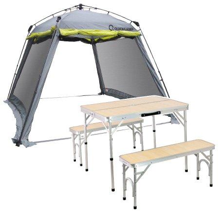 クイックキャンプ ワンタッチ スクリーンタープ 3m テーブルセット フルクローズ アウトドア タープテント QC-ST300 B00L551Y6I