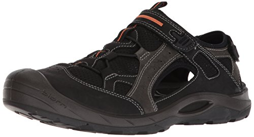 ECCO Men's Biom Delta Fisherman Sandal, Black, 46 M EU (12-12.5 US)