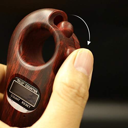 Suszian Rotierende Gebetsperlen, digitaler Finger Rotierende Gebetsperlen mit digitalem Zähler Genaues Dekompressionsspielzeug zum Entspannen Dekomprimieren bewegter Finger
