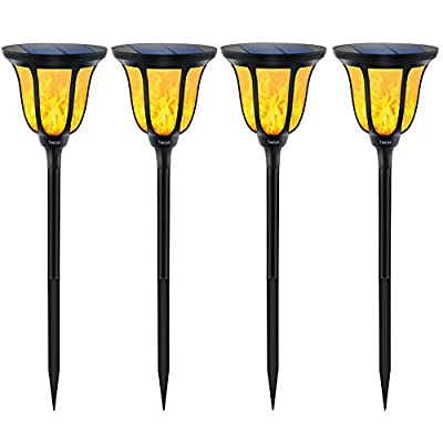 TomCare Solar Lights Solar Garden Torch Lights Waterproof Dancing Flame Outdoor Lighting Landscape Decoration Lighting 96 LED Solar Powered Path Light Dusk to Dawn Auto On/Off for Garden Patio Yard(4)