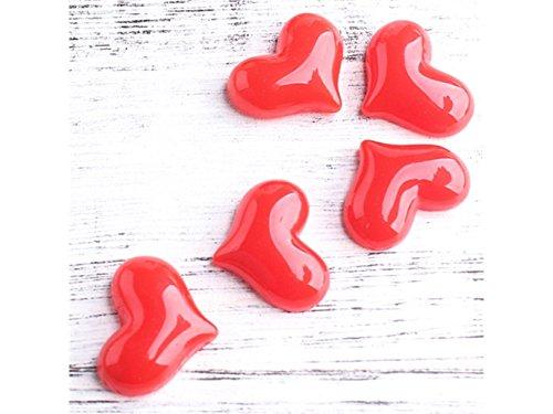 FenBuGu-JP 5個マイクロの風景の装飾樹脂心臓の装飾の庭ホームDIYの手工芸品(赤)の商品画像