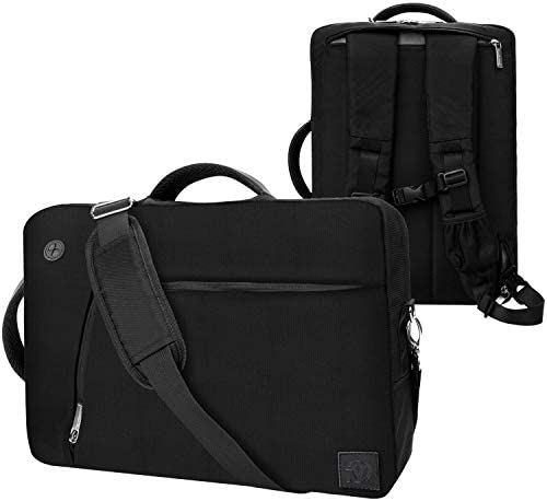 Black Convertible Laptop Backpack Messenger Shoulder Bag 15 15.6 inch for Apple MacBook Pro 15 inch